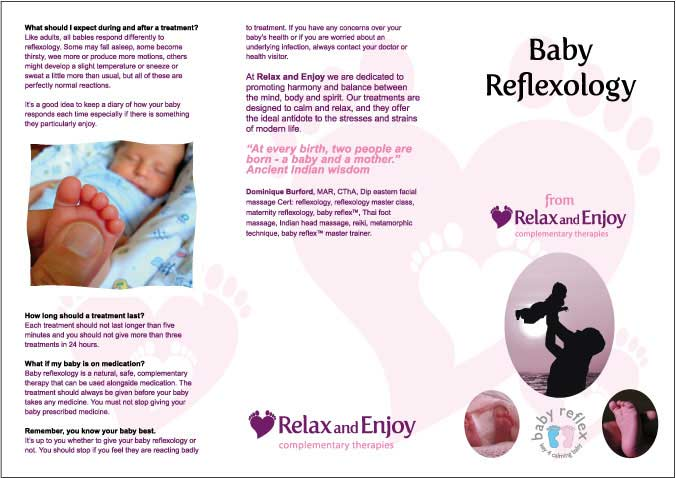 baby reflexology leaflet sample outside