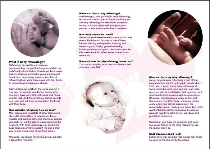 baby reflexology leaflet sample inside