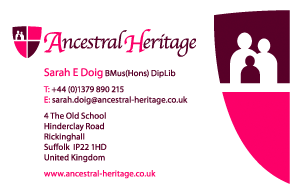 Ancestral Heritage Business Card