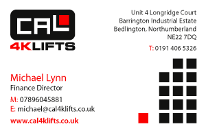 Forklift Truck Business Card