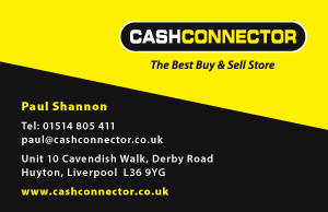 Cash Connector Buy & Sell Store Business Card