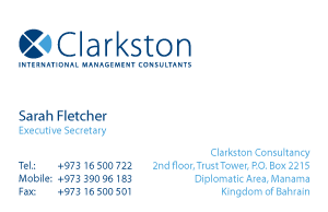 Clarkston International Business Consultants Business Card
