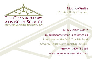 The Conservatory Advisory Service Business Card
