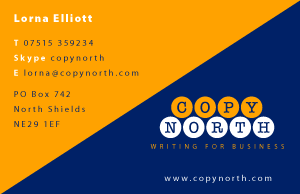 Copy North Copywriter's Business Card