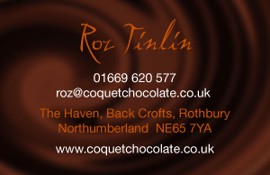 Northumberland Chocolatier's Business Card