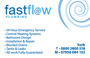 Fast Flow Plumbing Business Card