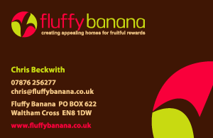 Fluffy Banana Interior Design Business Card