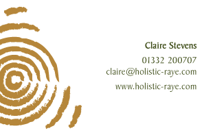 Holistic Therapy Business Card