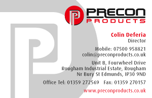 Preconditioned Products Supplier's Business Card