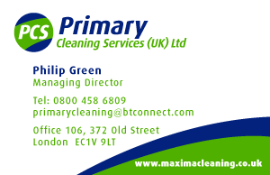 Primary Cleaning Services Business Card