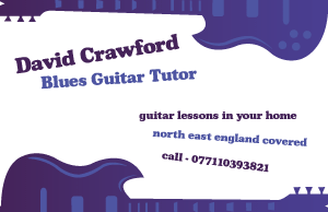 Blues Guitar Tutor Business Card