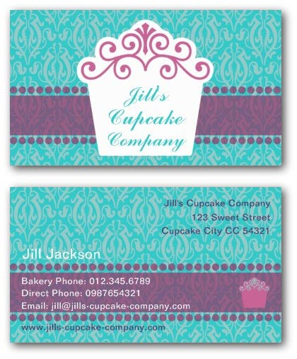 Cupcake business card templates ne14 design cake business card flashek Choice Image