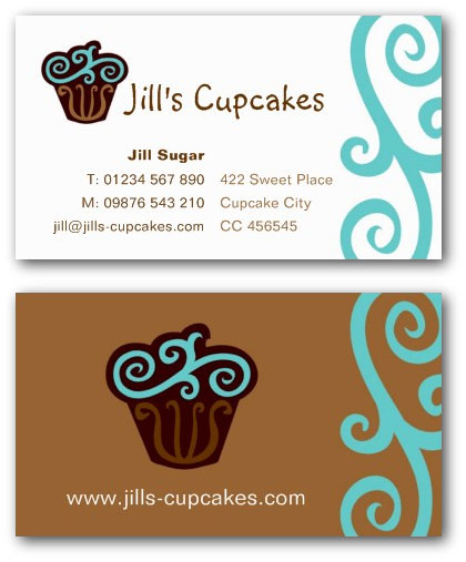 Cupcake business card templates ne14 design catering business card flashek Gallery