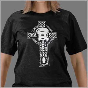 Guitar t shirts that rock by ne14 design for Celtic design t shirts uk
