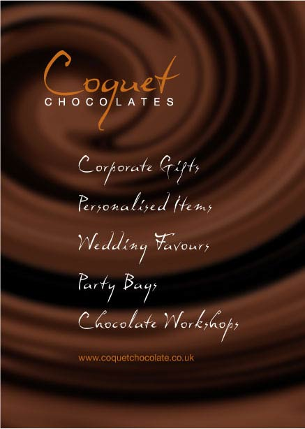 Chocolates flyer back
