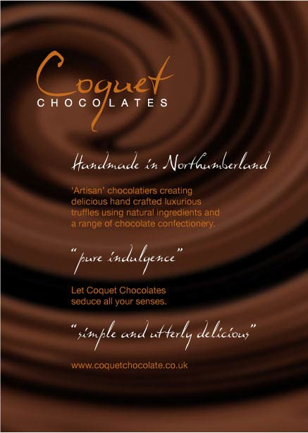 Chocolate branding flyer front