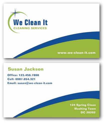 Cleaning business cards ne14 design cleaning services business card colourmoves
