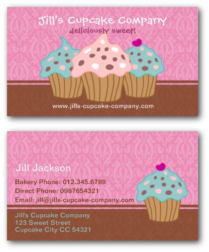 Cupcake business card