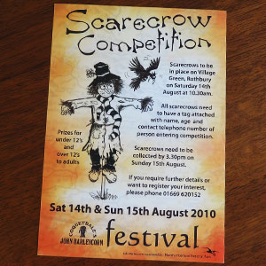 Scarecrow Competition Flyer
