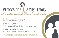 Family History Research Card
