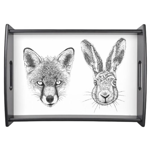 Fox & Hare Serving Tray