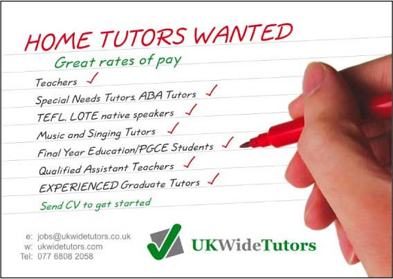 home tutoring flyer