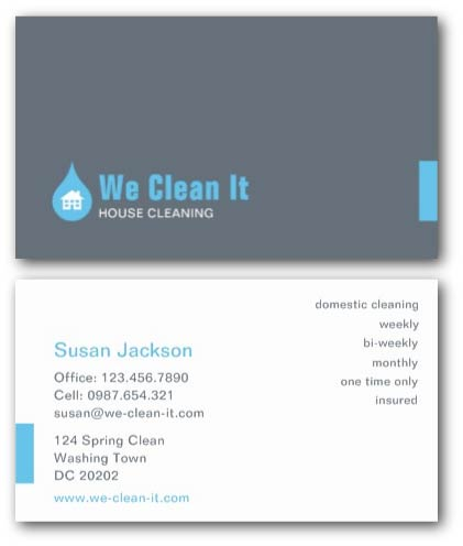 Cleaning business cards ne14 design floor cleaning this stylish business card colourmoves