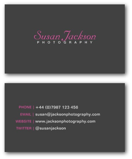 Photographer business cards ne14 design simple photographer business card template cheaphphosting