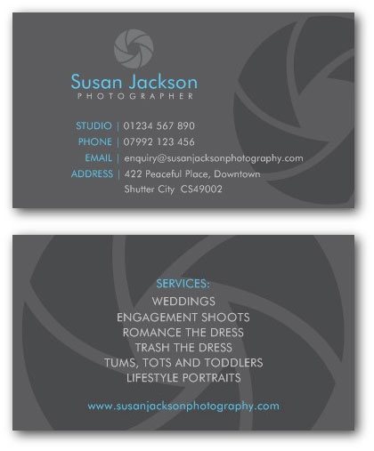 Photographer Business Cards – Name Card Example