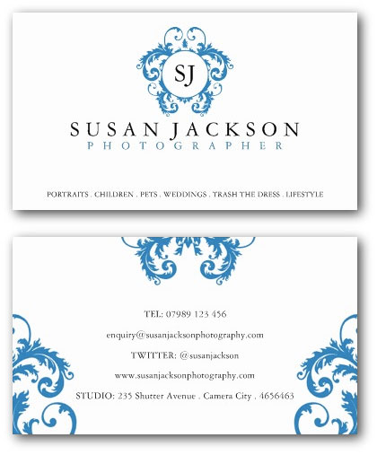 Photographer Business Cards Ne Design - Uk business card template