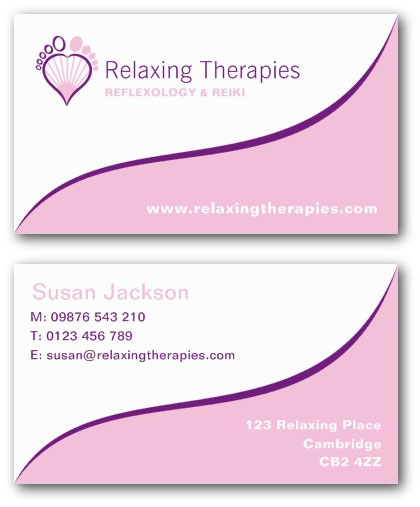 Reflexologist Business Card