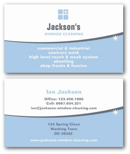 Cleaning Business Cards Ne Design - Business card template uk